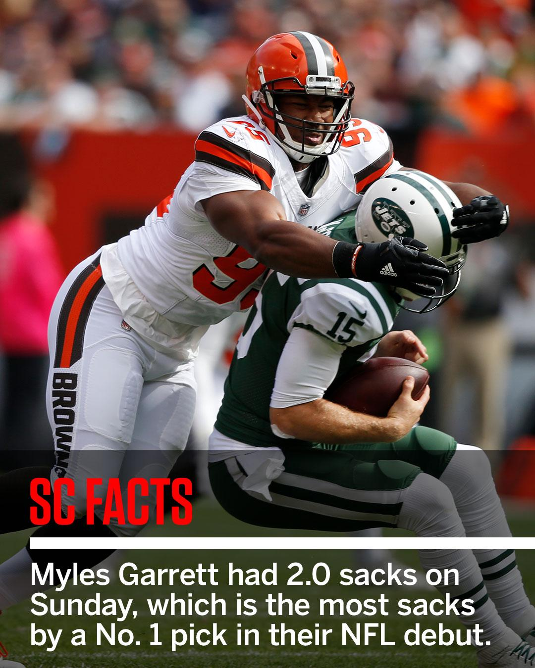 Myles Garrett did something no other first overall pick has done. #SCFacts (via @EliasSports) https://t.co/7xF2BLYVzP