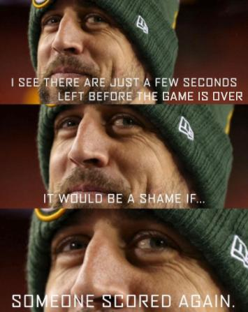 Oops, Aaron Rodgers did it again. https://t.co/41Mm7l5MiQ