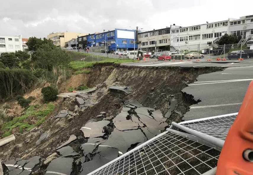 Birkenhead business owners worry as more of car park slips down bank