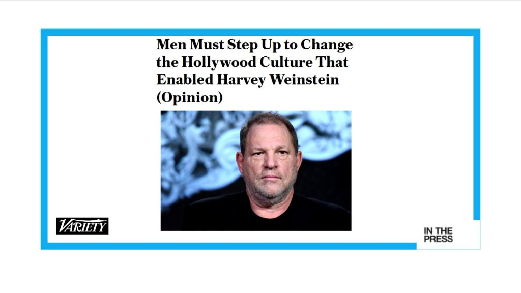 IN THE PAPERS - Harvey Weinstein scandal: 'Men must step up to change Hollywood culture'