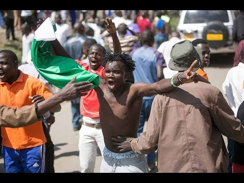 WARNING: [GRAPHIC CONTENT]: Car ploughs into a group of NASA protesters in Nairobi