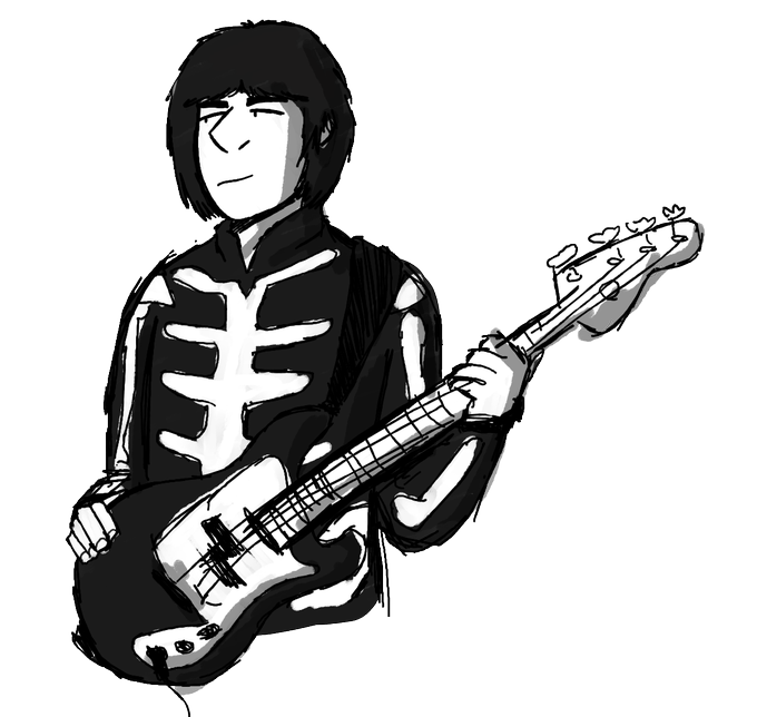 I\m late but happy birthday john entwistle here\s an absolutely pitiful scribble