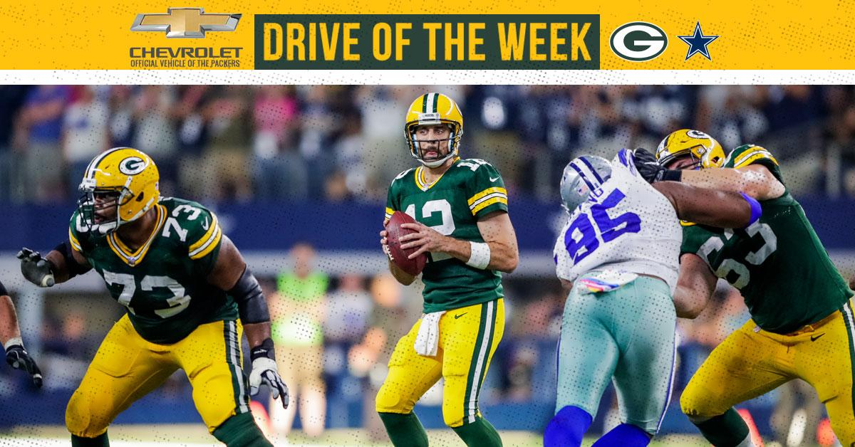 Game-winning drive wasted no time  @chevrolet Drive of the Week: https://t.co/TWea21Un12  #GBvsDAL #GoPackGo https://t.co/BV2BcqTzg5