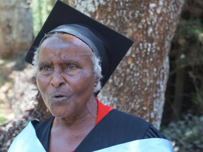 Woman proves age is nothing but a number as she graduates at 80