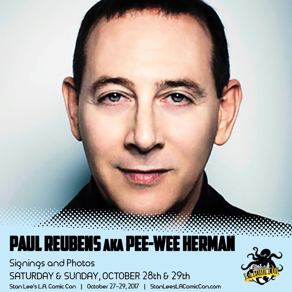 Guess who's coming to our playhouse - @StanLeeComicCon ...? @peeweeherman, himself: Paul Reubens!!! https://t.co/56Ky4G0ss8