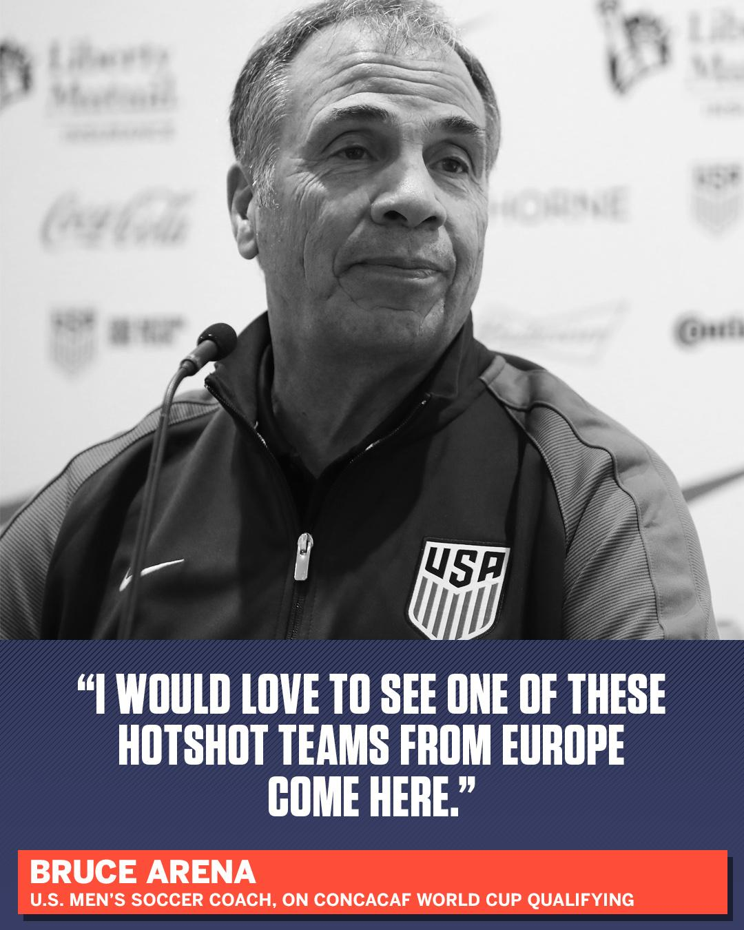 To Bruce Arena, there's nothing easy about CONCACAF World Cup qualifying. https://t.co/sRGGi1F6w8