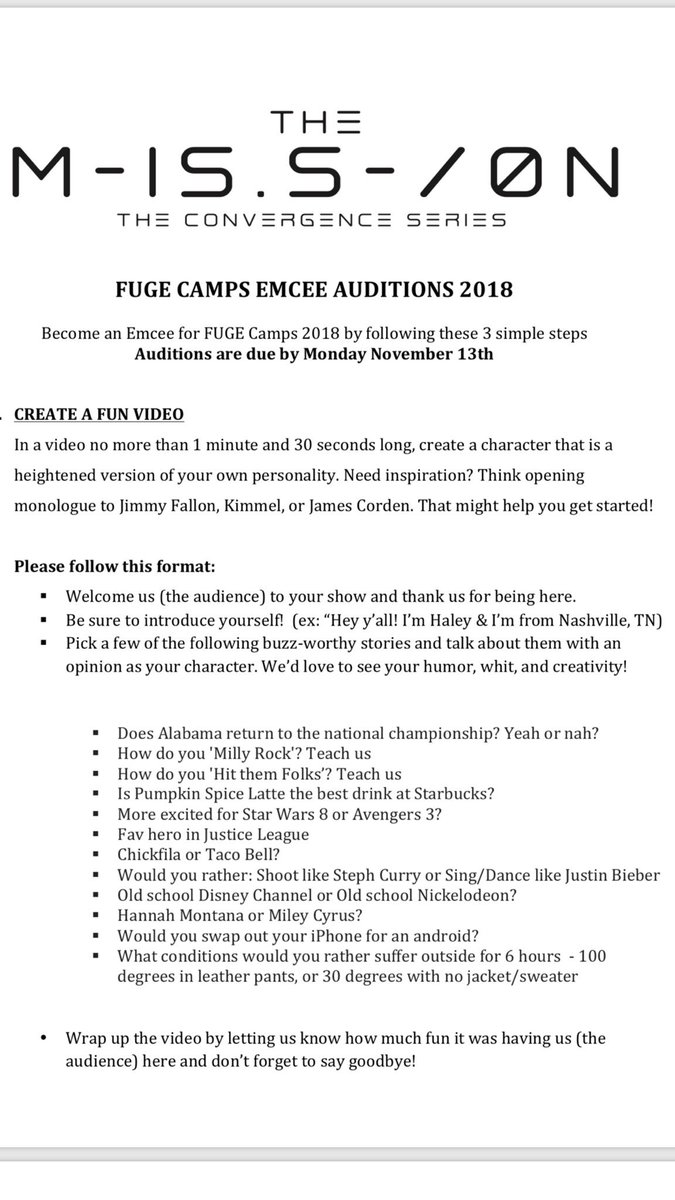 test Twitter Media - Have you ever wanted to apply for FUGE Camps Emcee?! Here are the deets! Check it out https://t.co/9uvvnt3SK0