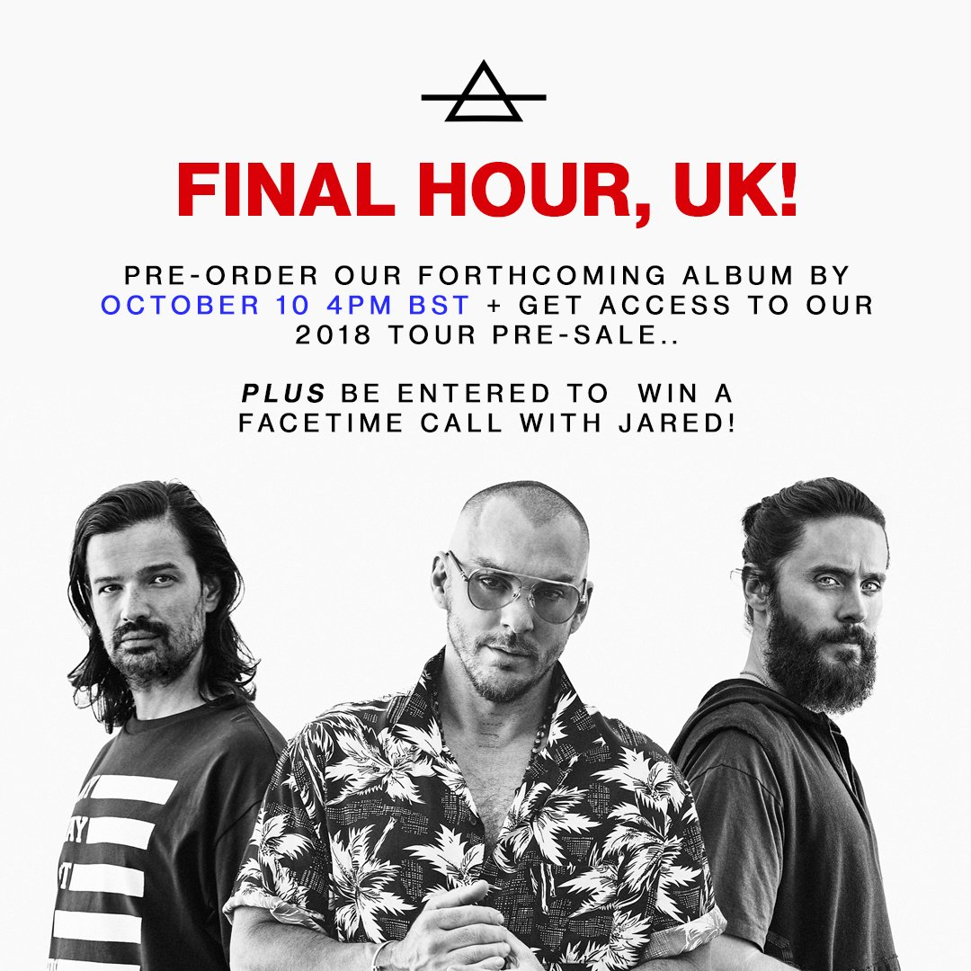 RT @30SECONDSTOMARS: ???????? FINAL HOUR! https://t.co/nTgCXvzWr2 https://t.co/6cKhqqEVen