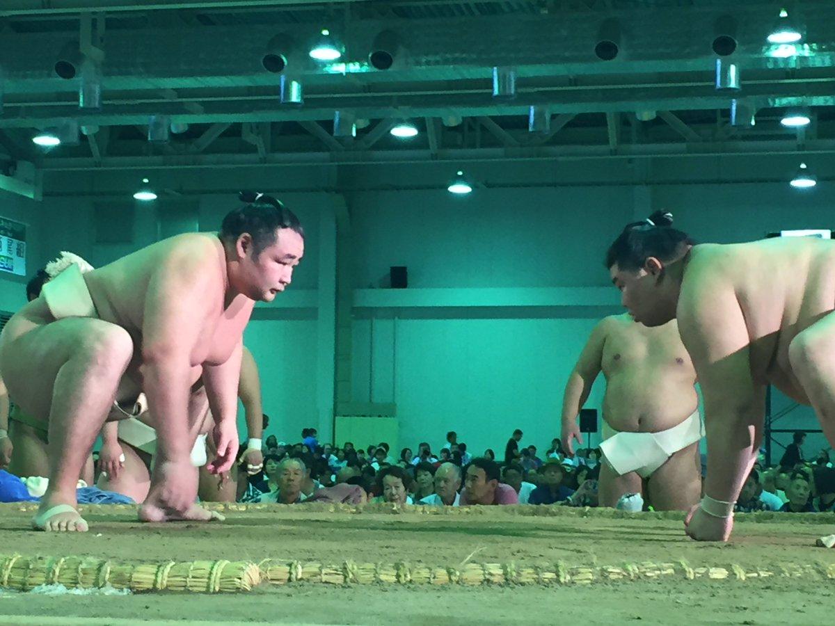 test ツイッターメディア - <秋巡業@富士市>鶴竜と正代、稀勢の里と大栄翔の稽古。 #sumo https://t.co/OMQRUvSIJt