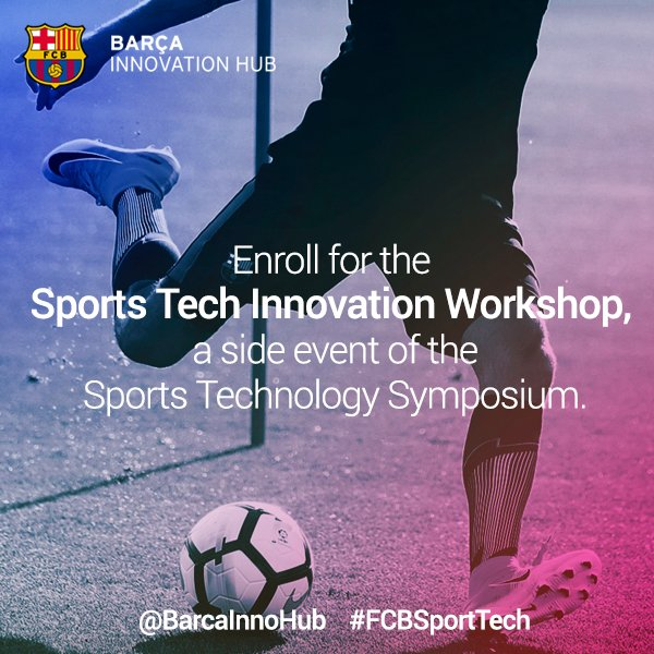 Less than a month for the new #FCBSportTech Join @BarcaInnoHub & find out more info here: https://t.co/KiKpamnBFL https://t.co/YOAL6XJU1b
