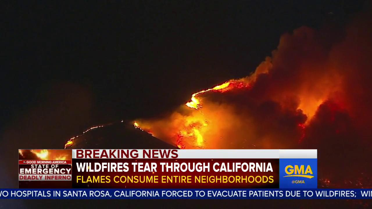 WATCH: California wildfire outbreak kills at least 11, among most deadly in state history: https://t.co/52Ix5kUJ4F https://t.co/eKKrli16CU