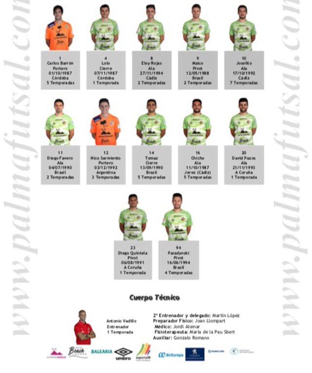 Aquí tienes a los doce elegidos para el estreno de esta noche en la Copa del Rey ante el Real Betis FS. https://t.co/gYtBSZTtPE