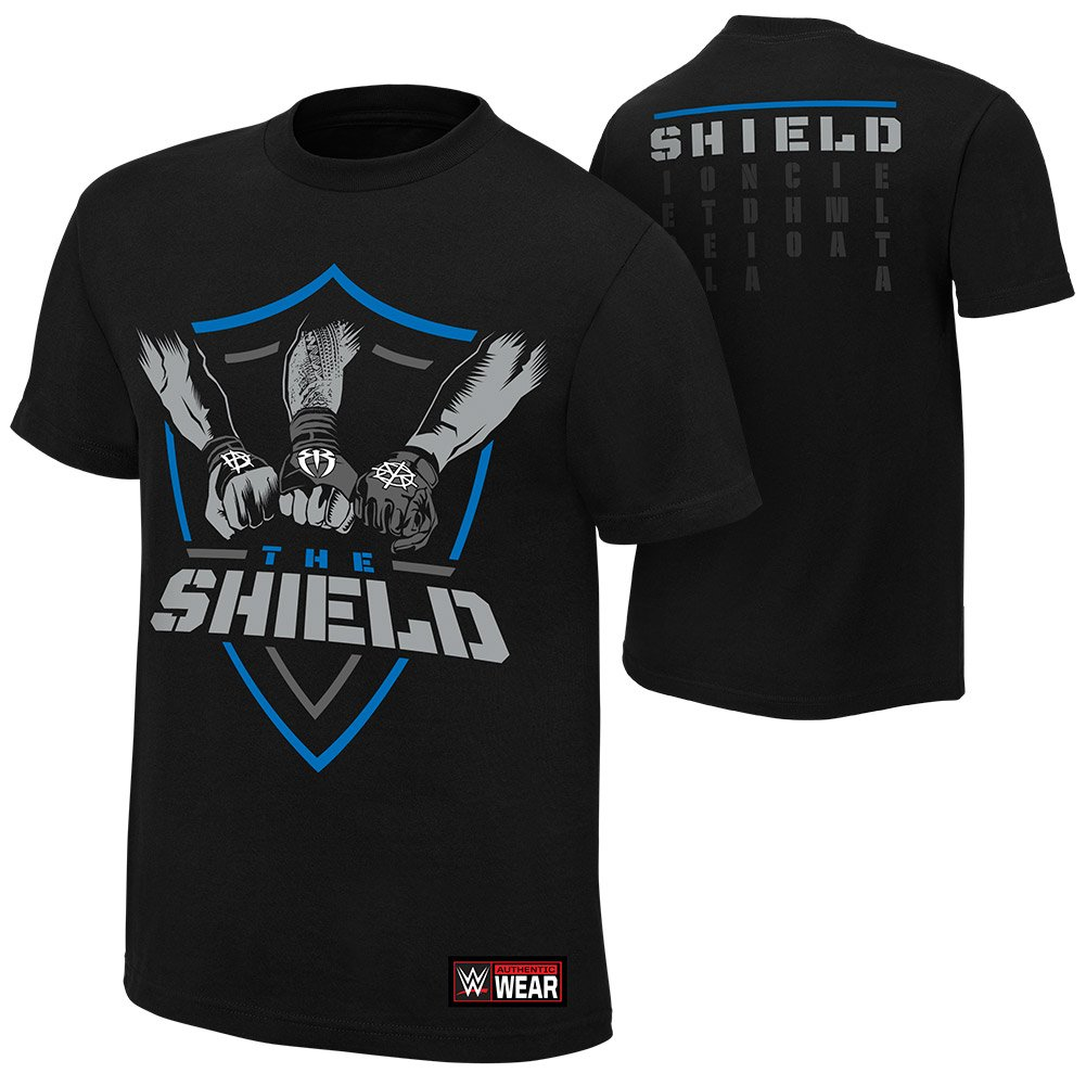 RT @ProWrestlingMag: HQ look at the new Shield shirt. #WWE #RAW #WWETLC https://t.co/Ha9GI6rU6d