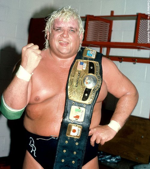 Happy birthday ! Here\s a lovely picture of Dusty Rhodes to brighten your day!