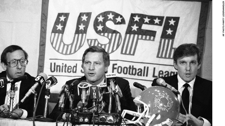 Trump's grievance with the NFL goes back to the 1980s