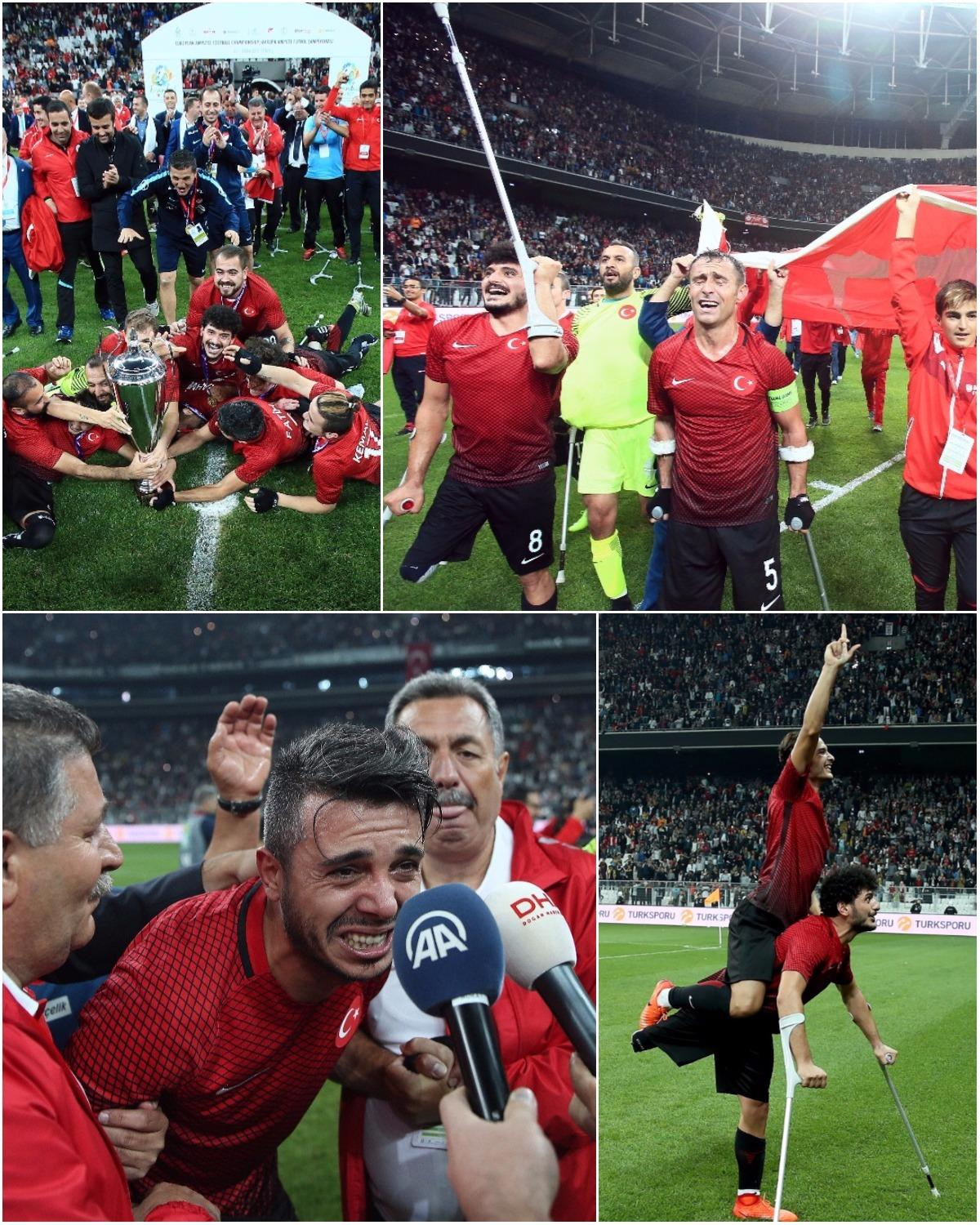 Turkey's reaction to scoring in injury time to win the Amputee European Championship is what makes sports great. https://t.co/hVcPG8NUET