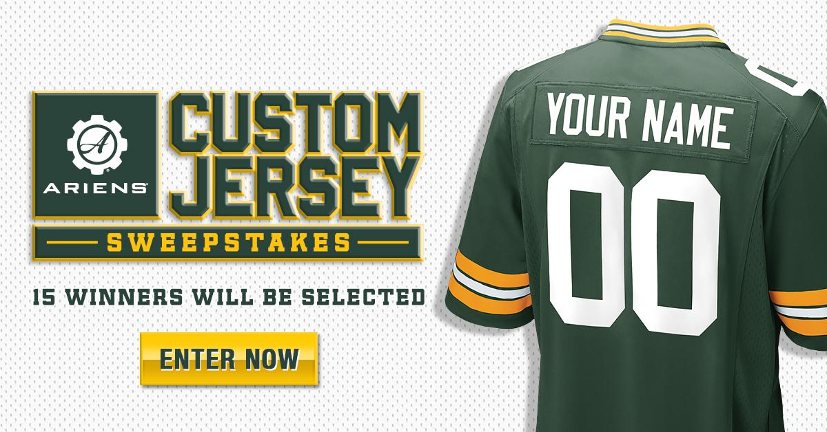 Win a custom #Packers jersey + an @Ariens Sno-Thro!  Enter now �� https://t.co/wfno9AwSqr https://t.co/gSvehCYhy8