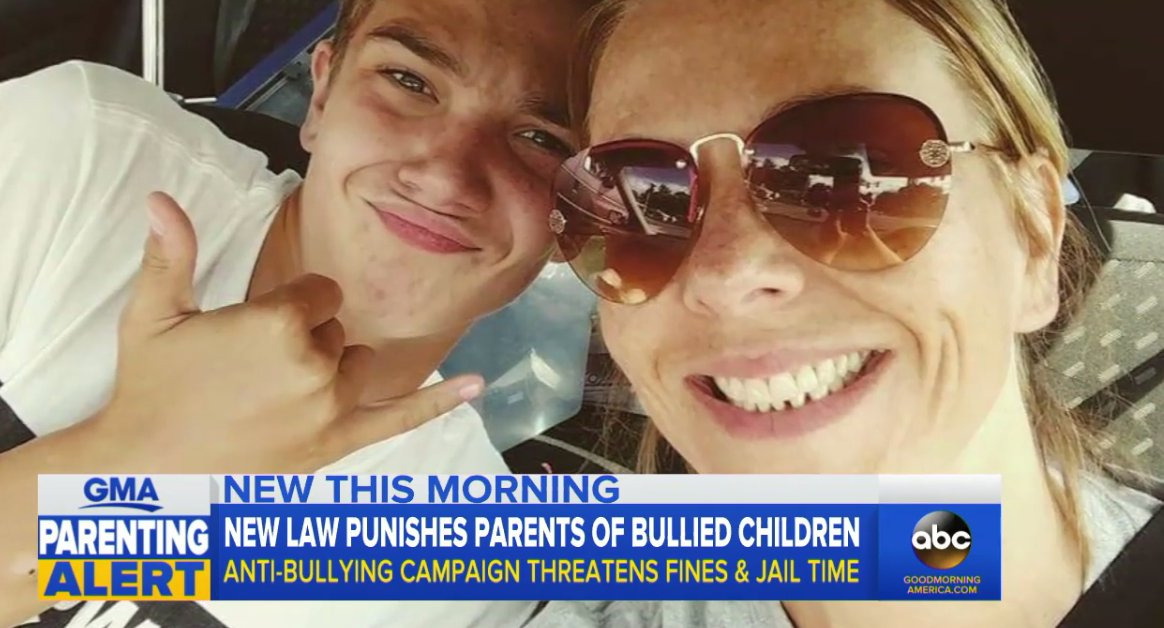 Parents in New York town could face jail, fine under new anti-bullying law: https://t.co/55Plfs7AKq https://t.co/tuKF4iuDSt