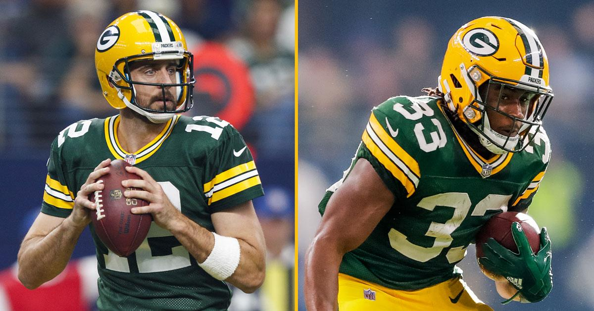 .@AaronRodgers12 & @Showtyme_33 are nominated for Week 5 @NFL awards!  VOTE ➡ https://t.co/gp9KeTePog  #GoPackGo https://t.co/isrMXMQsay