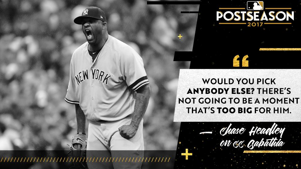 CC's no stranger to this time of year. #ALDS https://t.co/X4ISMUea8J