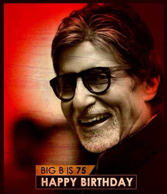Happy Happy Birthday Amitabh Bachchan Sir.