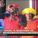President Uhuru Kenyatta says October 26th fresh election will proceed