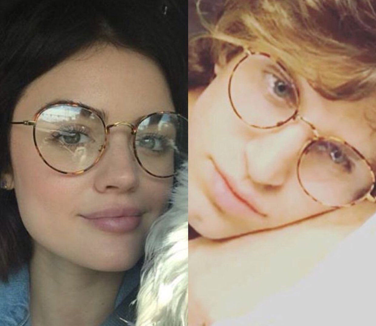 Do I have @lucyhale glasses, or does she have mine? OR ARE WE THE SAME PERSON?! https://t.co/dQvn1sJQ9e
