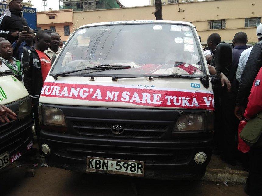 Murang'a voters scramble for Wa Iria's free transport from Nairobi
