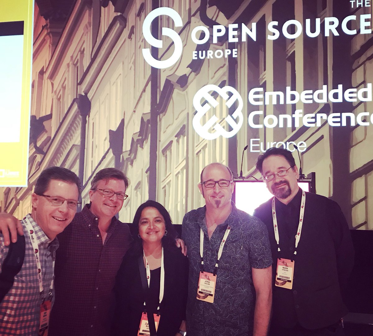 Great to be in Prague with this #opensource rabble at #OSSummit  @guyma @jzemlin @zahedab @jonobacon @FallenPegasus https://t.co/oKhswGYDxJ