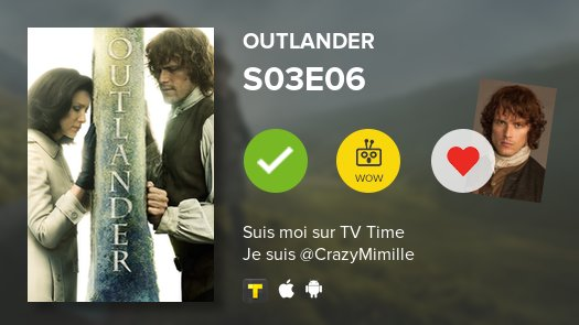 "#JustWatched • Outlander | S03E06 - ""A. Malcolm"" #outlander  https://t.co/rsksLgdhQo #tvtime https://t.co/thZh90sMKL"
