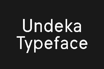 Undeka Typeface Free Demo Fonts freebies design MarameStudio