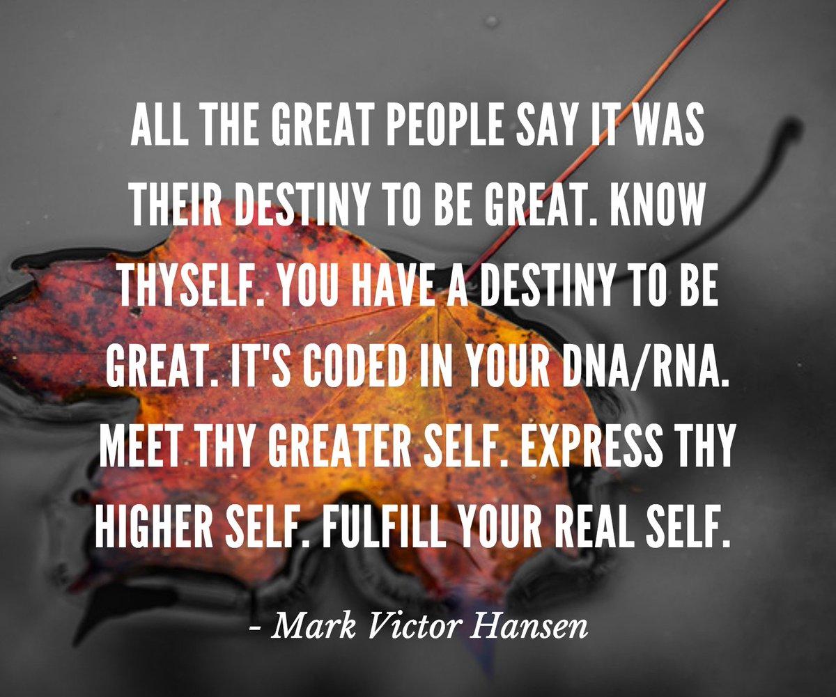 RT @MarkVHansen: #destiny #success #motivationmonday https://t.co/zqoYZOM9fC
