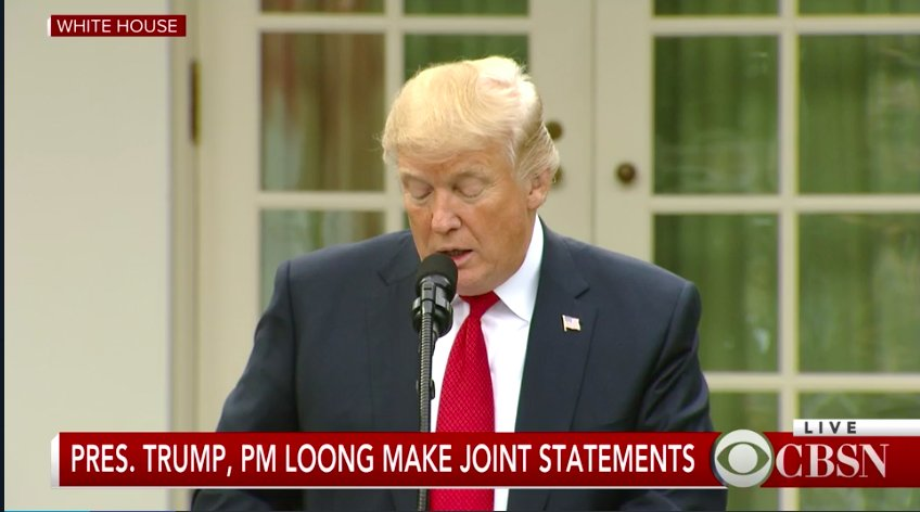 President Trump and Singapore PM Lee Hsien Loong make joint statements. Follow here: