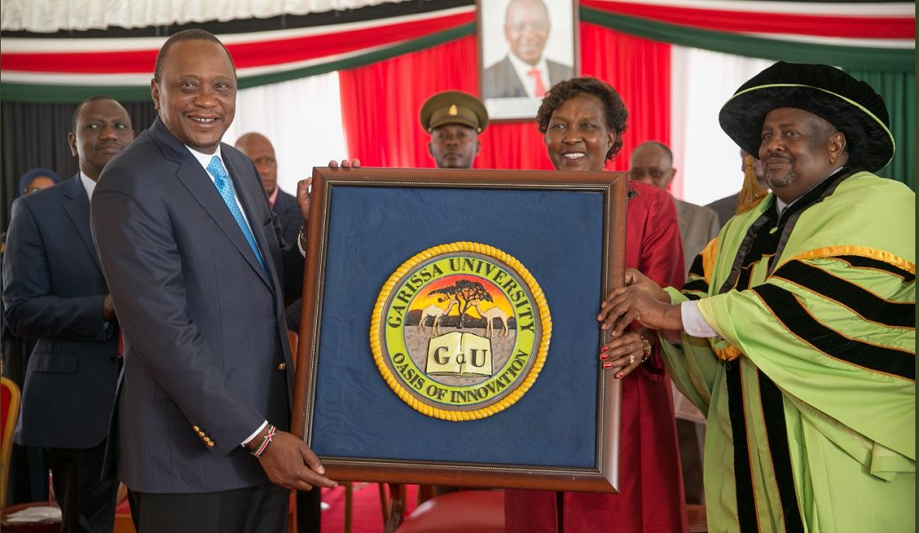 President Kenyatta awards charter to Garissa University
