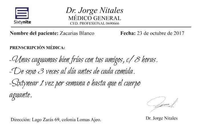 RT @SixtyniteApp: Feliz #DíaDelMédico ¡A seguir las indicaciones! 💉😆 #ComoMeLoRecetoElDoctor https://t.co/loDDcYmWZs