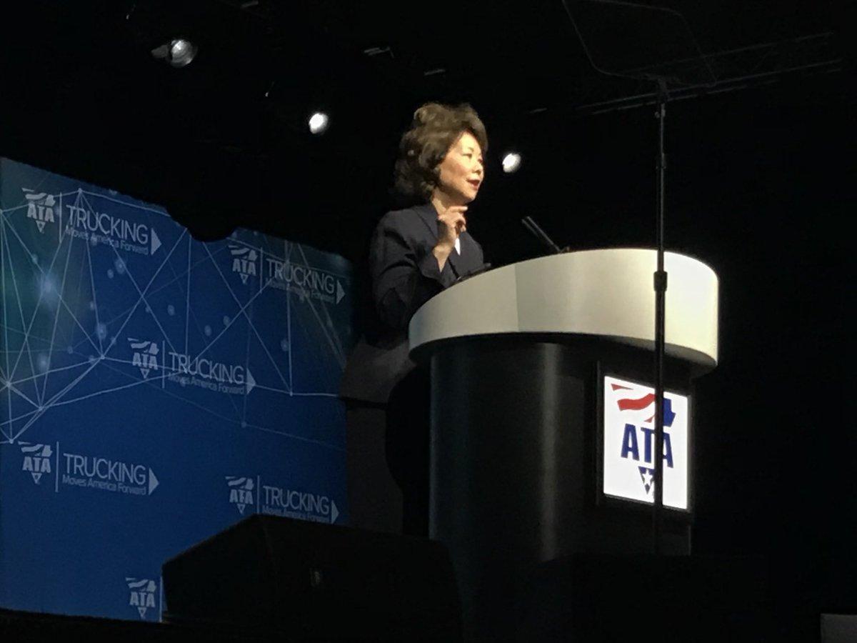 RT @JeffCrisseyCCJ: DOT Sec. Elaine Chao: