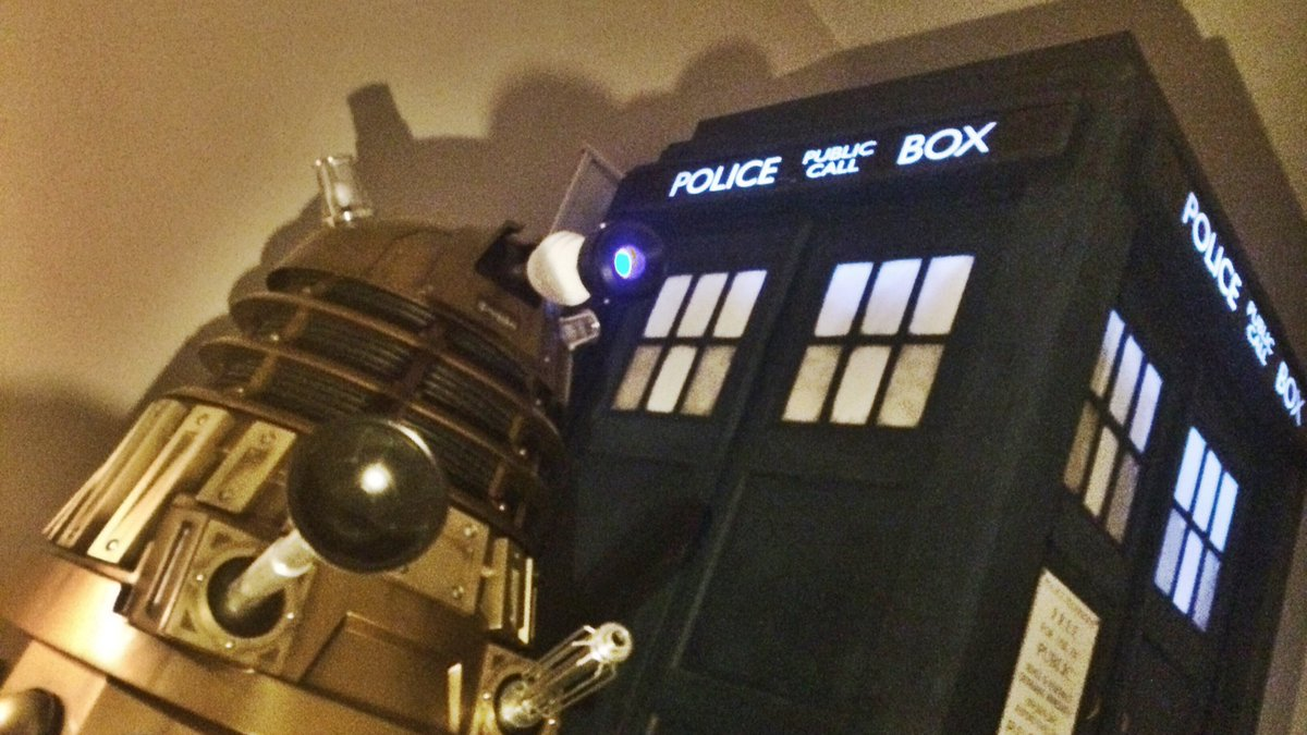 My current view! #Dalek & #TARDIS #DoctorWho https://t.co/hBr6sdmQeC