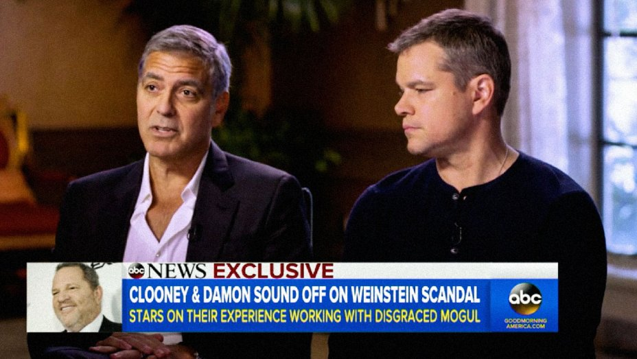 George Clooney and Matt Damon say they knew Weinstein was a womanizer, not a predator