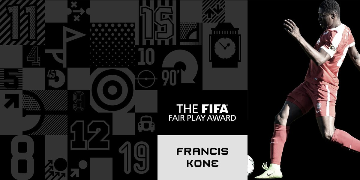 RT @FIFAcom: Congratulations, 🇹🇬Francis Kone! 👏 Winner of The FIFA Fair Play Award 2017 🏆 #TheBest https://t.co/2sre73H4sQ
