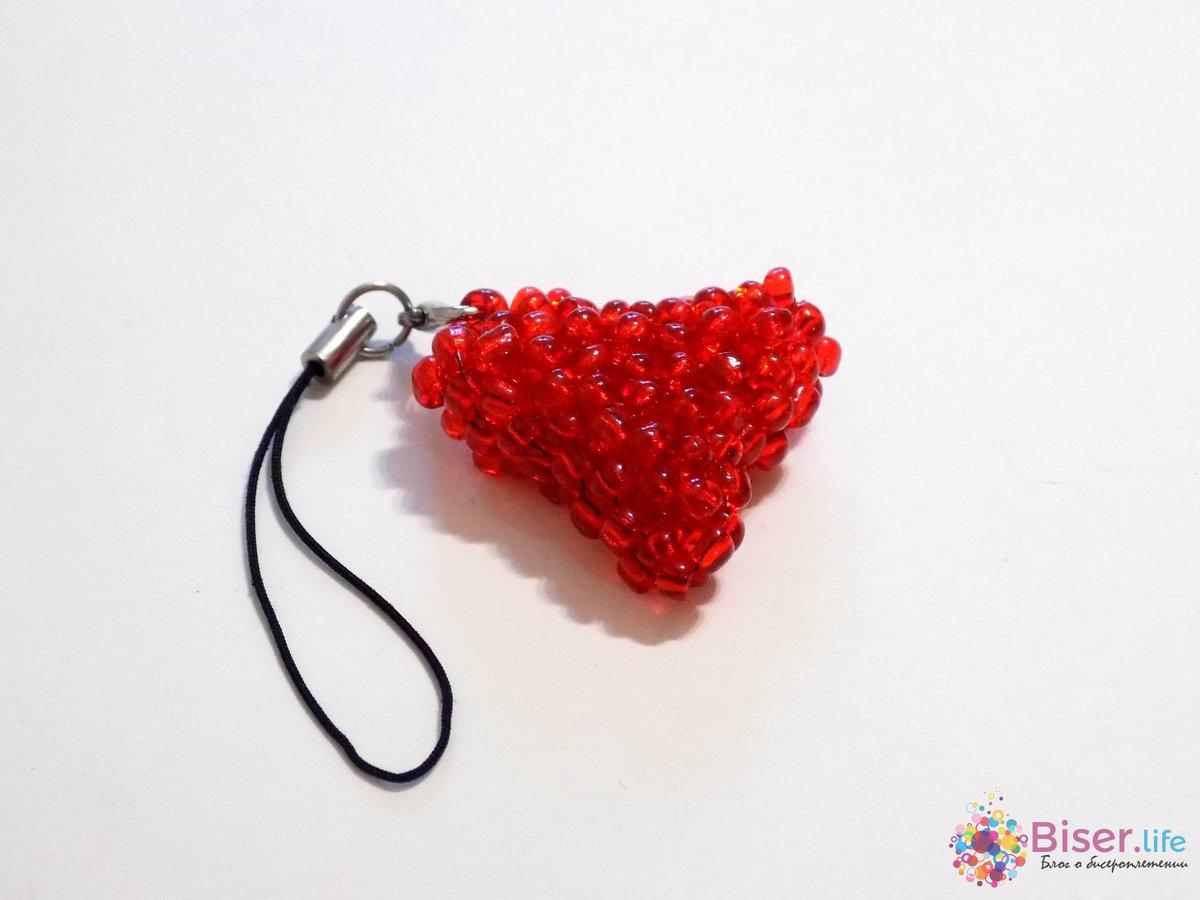 Как сделать сердечку бисерами