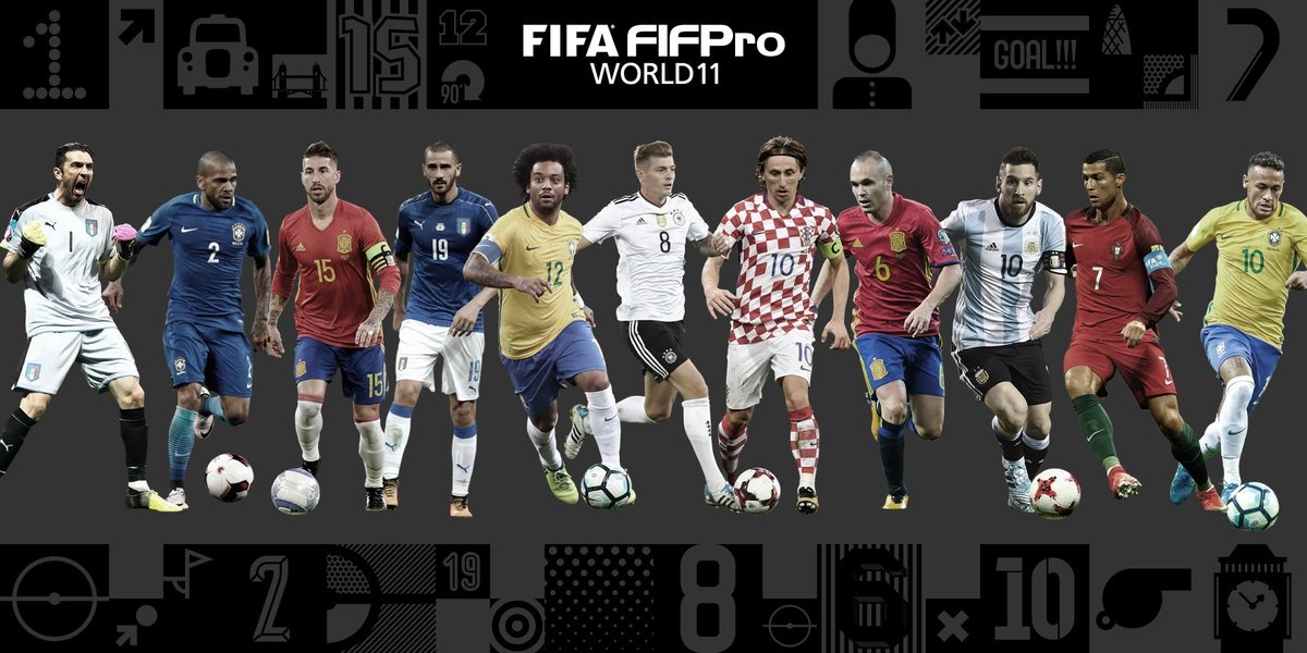 RT @FIFAcom: Your FIFA FIFPro #World11 for 2017 🙌 #TheBest https://t.co/h8gNrTpMiX