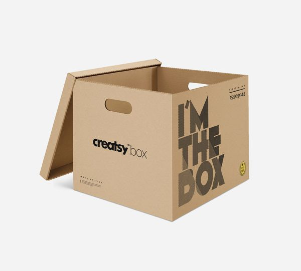 Moving Box PSD MockUp  free freebie Mockup psd box