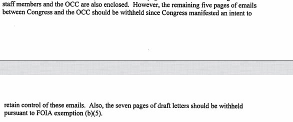 RT @marygeorgant: OCC responded to @weareoversight FOIA stating that it was withholding several pages of records. https://t.co/3LqWSRdHEY