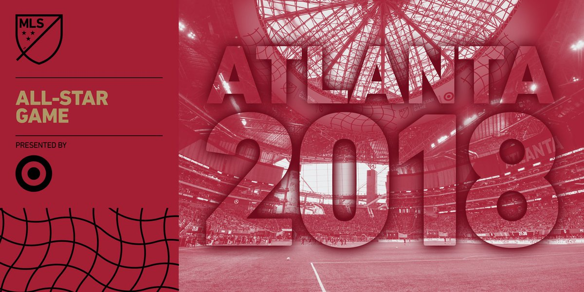 All-stars in the 🅰️!  Atlanta will host the 2018 #MLSAllStar Game presented by @Target. https://t.co/CySIuiIS0o https://t.co/J18xPxY9PY