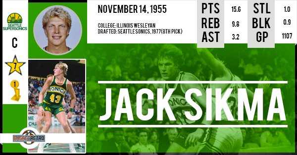 Happy birthday Jack Sikma