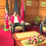 President Uhuru Kenyatta, IEBC chair Wafula Chebukati hold talks