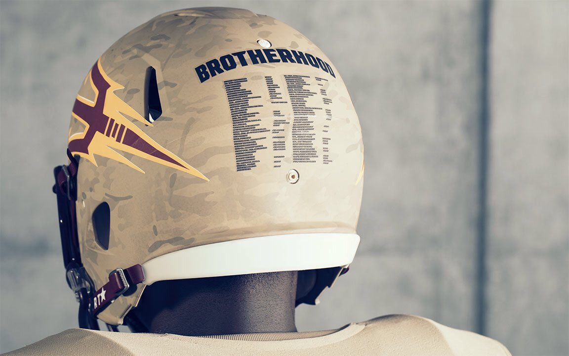 Arizona State to honor Pat Tillman, veterans with 'Brotherhood' uniforms https://t.co/OsPZwUswG4 https://t.co/eXg51yCU2D