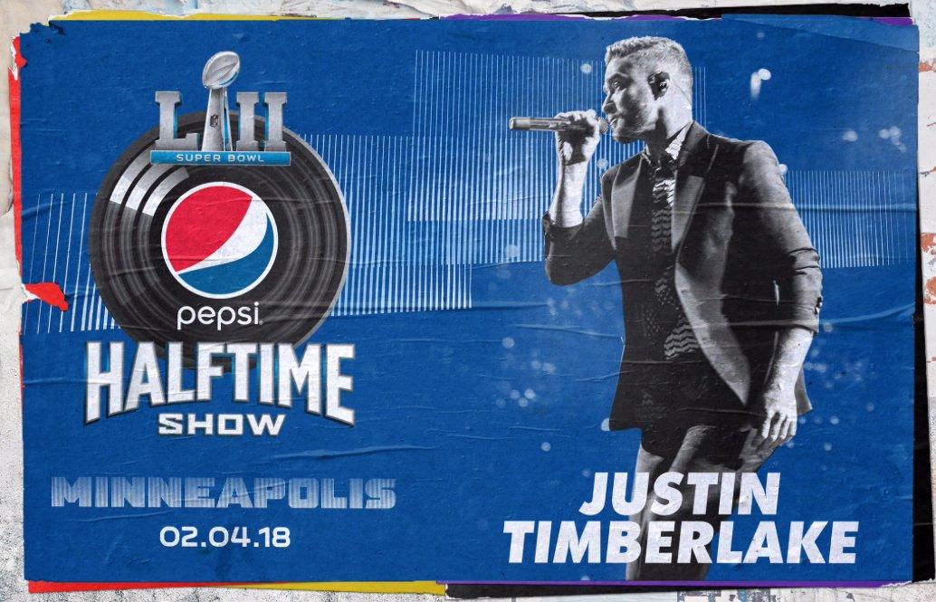 Justin Timberlake encargado del medio tiempo del Superbowl 52 https://t.co/VW76RCRgVi https://t.co/vixwiB4wHl