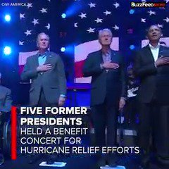 "Five former presidents formed the ""One America"" organization to raise more than $30 million for hurricane relief https://t.co/QDHXTZlhBT"