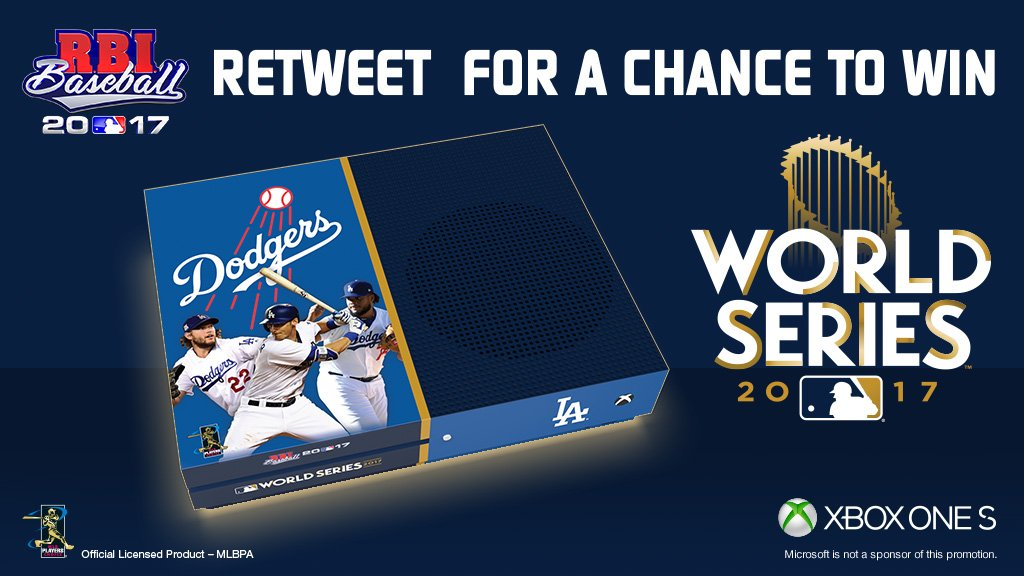 @RBIGAME @astros @Xbox Don't think we forgot about @Dodgers fans. RT for a chance to win an @RBIGAME #WorldSeries @Xbox One S in Dodger blue! https://t.co/O3I5CRGJqu